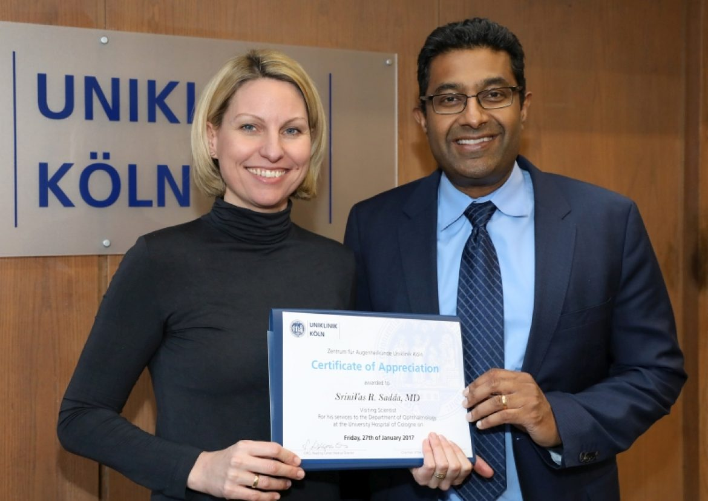 Californian retinal imaging expert visits Cologne
